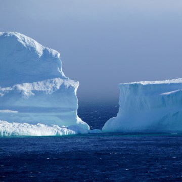 Image: The first iceberg of the season passes the South Shore of Newfoundland