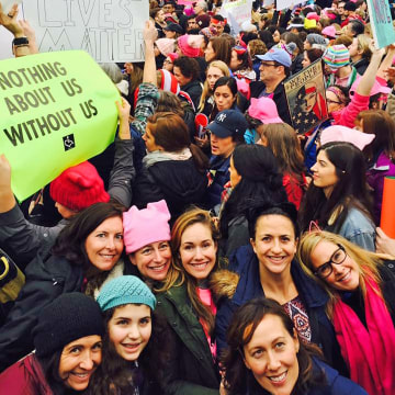 Image: Members of Mobilizing Montclair at the Women's March on Washington