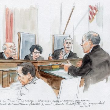 Image: Attorney David A. Cortman addresses the Supreme Court justices