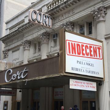 """Indecent"" Theatre Marquee Unveiling"