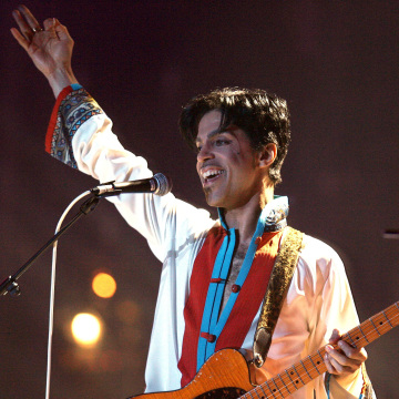 Image: FILE PHOTO: Prince of the US performs on stage at the Brit Awards at the Earls Court Arena in central London
