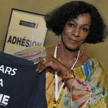 Image: Huguette Fatna of the National Front