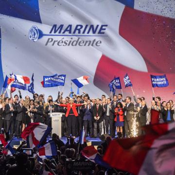 Image: Marine Le Pen campaign rally in Paris