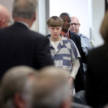 Image: Dylann Roof is escorted into the court room at the Charleston County Judicial Center in Charleston, South Carolina, April 10, 2017.