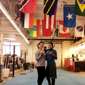 Amaiya Zafar with her friend Aliyah Charbonier.