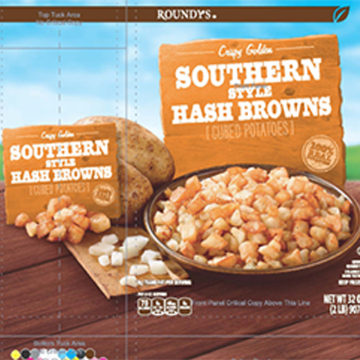 Image: Harris Teeter Brand Frozen Southern Style Hash Browns.