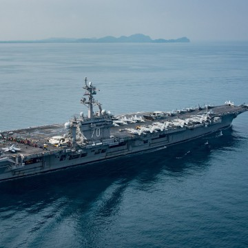 Image: USS Carl Vinson on a scheduled western Pacific deployment
