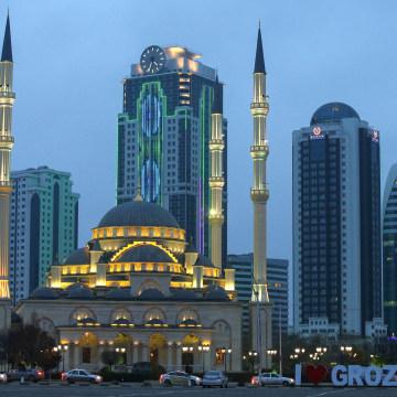 Akhmat Kadyrov Mosque in Grozny, Chechnya, Russia