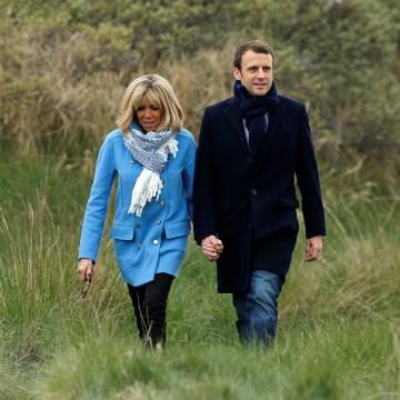 Image: Emmanuel Macron and Brigitte Trogneux