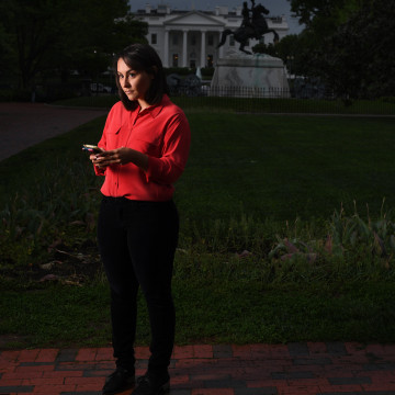 Image: NBC News reporter Ali Vitali has been covering President Donald Trump since he launched his campaign for the presidency.