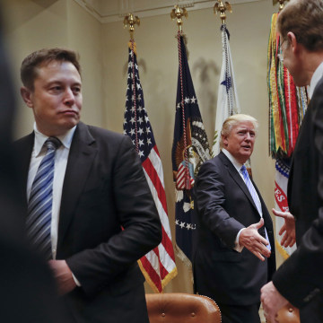 Image: Donald Trump, Elon Musk, Wendell P. Weeks