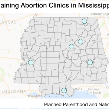 Abortion Clinics in Mississippi and Alabama