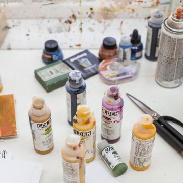 Image: Illustrator Edel Rodriguez's New Jersey studio.