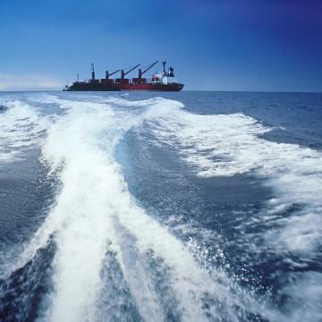 bulk coal carrier off the coast of kalimantan, indonesia