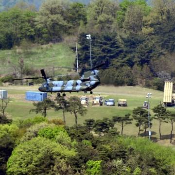 Image: A Terminal High Altitude Area Defense (THAAD) interceptor is seen in Seongju
