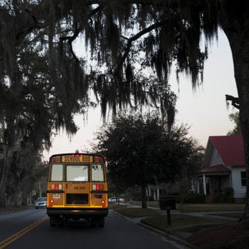 Image: School bus in Estill, S.C.