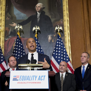 Image: Congressional Democrats Introduce The Equality Act Of 2017 Supporting The LGBT Community Against Discrimination