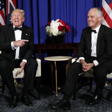 Image: President Donald Trump meets with Australian Prime Minister Malcolm Turnbull