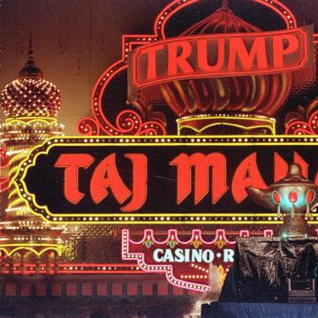 Image: Donald Trump attends the grand opening of the Trump Taj Mahal