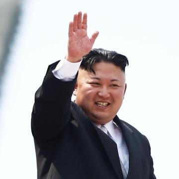 Image: Kim Jong Un on April 15, 2017