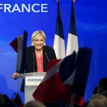 Image: Marine Le Pen won 11 million votes on Sunday