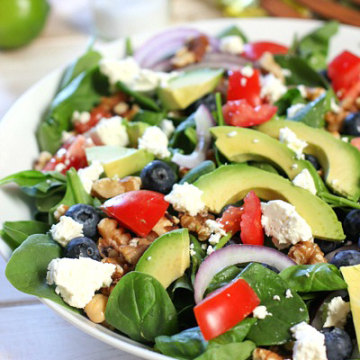Image: Spinach Power Salad with Honey Lime Vinaigrette