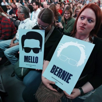 Image: Omaha Democratic mayoral candidate Heath Mello supporters attend a rally