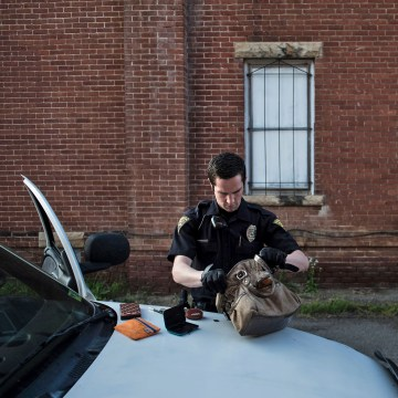 Image: West Virginia police search