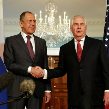 U.S. Secretary of State Rex Tillerson meets with Russian Foreign Minister Sergey Lavrov in Washington