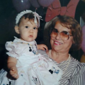 Jenny Loranzo and her Abuela.