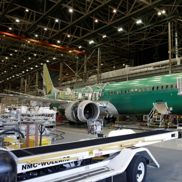 Image: A 737 MAX 9 under construction