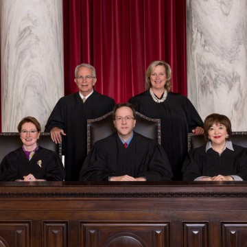 Image: 2017 West Virginia Supreme Court members