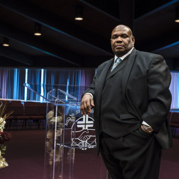 Image: Rev. Karl Jones, pastor of Fellowship Church of God in Cleveland