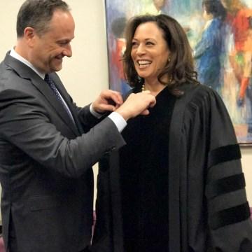 Image: Senator Kamala Harris and her husband, Doug Emhoff