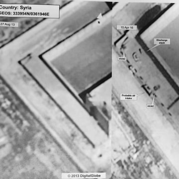 Image: An annotated satellite image of Syria released by the State Department on Monday, May 15, 2017