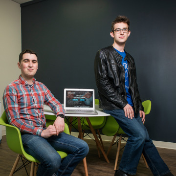 Image: Peter Silverman and Max Robbins, co-founders of Majorwise