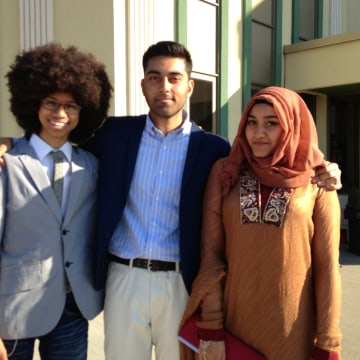 Author S.K. Ali's children, Jochua, Hamza, and Bilqis