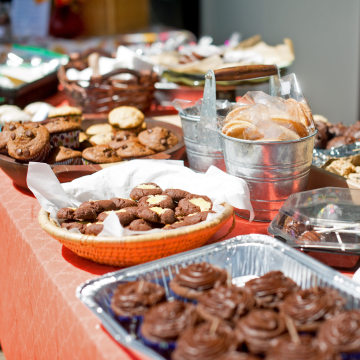 Image: Baked goods at a bake sale in Stowe, Vermont