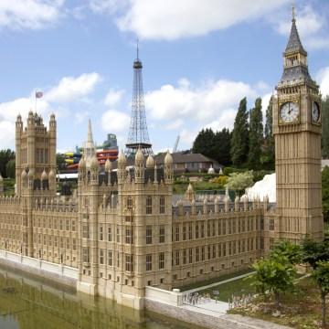 Image:  A miniature version of Britain's Parliament at Mini-Europe