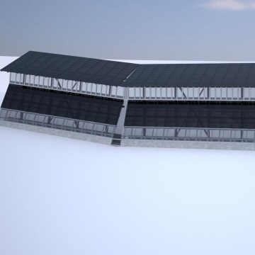 Image: Solar border wall proposal