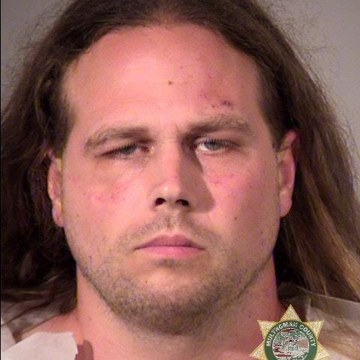 Image: Jeremy Joseph Christian, 35 years old, of North Portland was booked on charges of Aggravated Murder (two counts), Attempted Murder, Intimidation in the Second Degree (two counts), and Felon in Possession of a Restricted Weapon.
