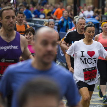 Image: Runners in Manchester