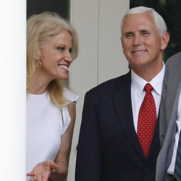 Image: Kellyanne Conway, Mike Pence