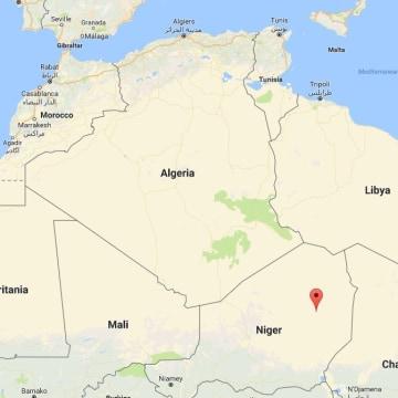 Image: Map showing Bilma, Niger