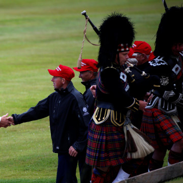 Image: Donald Trump at Turnberry