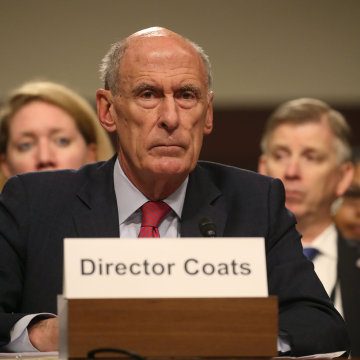 Image: Director Of Nat'l Intelligence Daniel Coats Testifies To Senate Armed Services Committee On Worldwide Threats