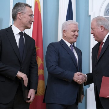 Image: Accession ceremony for Montenegro into the NATO alliance