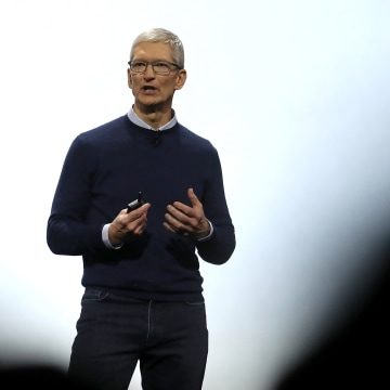 Image: Apple CEO Tim Cook delivers the opening keynote address the 2017 Apple Worldwide Developer Conference (WWDC) at the San Jose Convention Center on June 5, 2017 in San Jose, California.