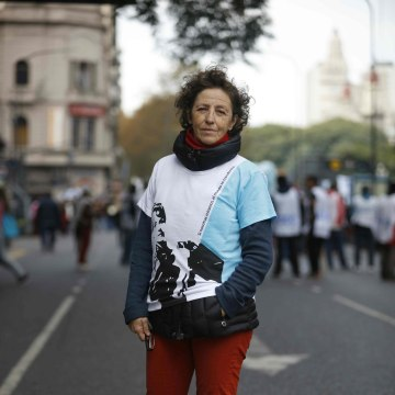 Image: ARGENTINA-HUMAN RIGHTS-GENOCIDE-MARCH