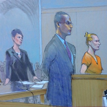 Image: Sketch of NSA Leaker Reality Leigh Winner Detention Hearing